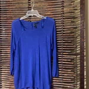 Cobalt blue sweater nwot size xl sheer